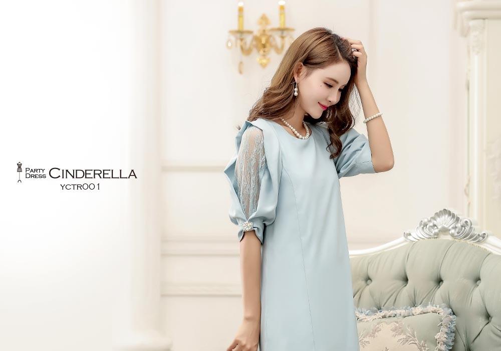 パーティードレス フォーマル スレンダードレス デザイン袖 20代 30代 40代