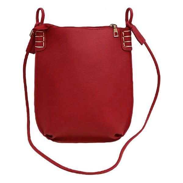 ショルダーバッグ レディース 斜め掛け 軽量 ミニ バッグ 小さめ シンプル おしゃれ かわいい PU レザー 全5色|linofle|16