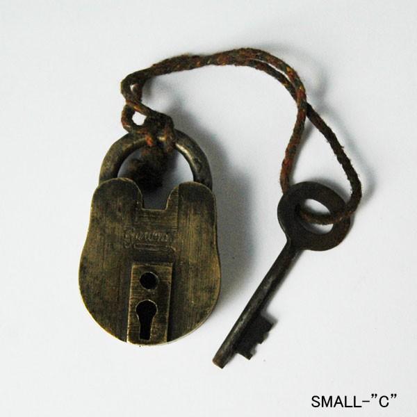 old brass palock,large,a,アンティーク南京錠