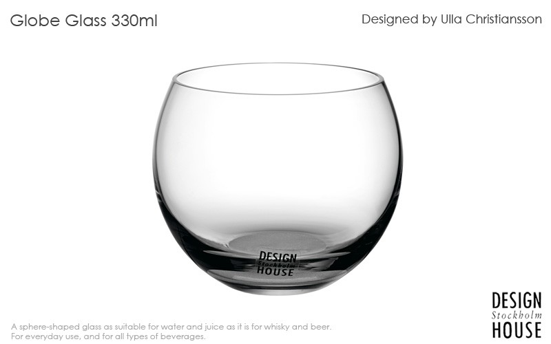 Globe glassグローブグラス,330ml,DESIGN HOUSE stockholmデザインハウス ストックホルム,北欧スウェーデン,北欧雑貨,北欧インテリア,北欧ギフト
