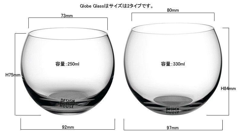 Globe glassグローブグラス,DESIGN HOUSE stockholmデザインハウス ストックホルム