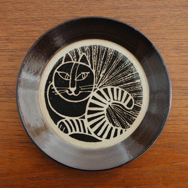 益子の皿ネコ黒,Lisa Larson,リサラーソ,JAPAN Series