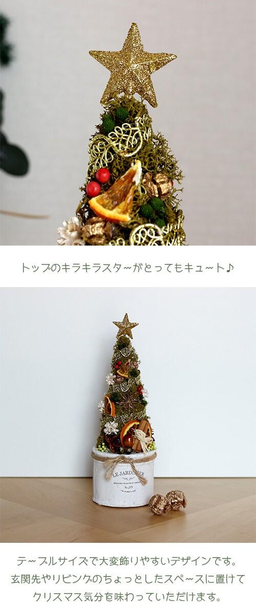 プリザーブドフラワー ホワイトポットのクリスマスツリー lpm0104 商品イメージ1