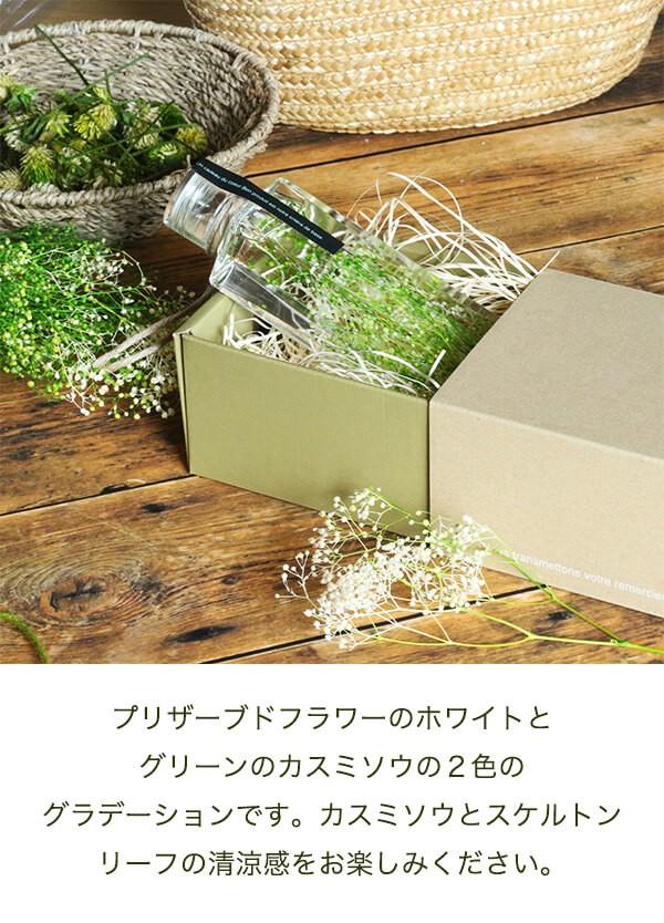 グリーンハーバリウム かすみ草 商品イメージ1