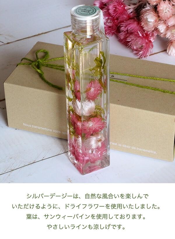ハーバリウムシルバーデージー(ピンク) 商品イメージ1
