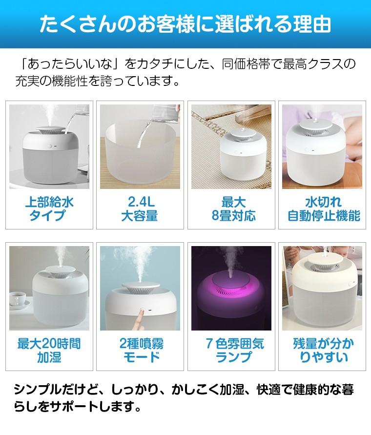 次亜塩素酸水対応 USB加湿器