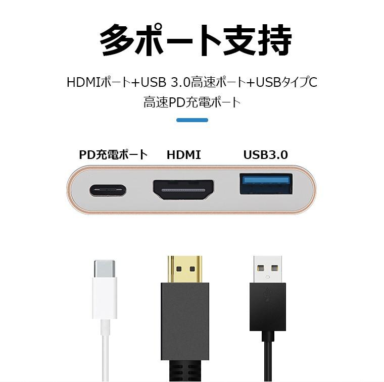 USB Type-C to HDMI 変換ケーブル