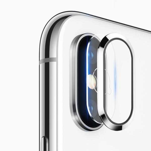 レンズ保護リング+カメラ保護フィルム セット iPhone XS カメラ用ガラスフィルム iPhone XS Max カメラリング 全面 アイフォン テン 強化ガラス|livelylife|10