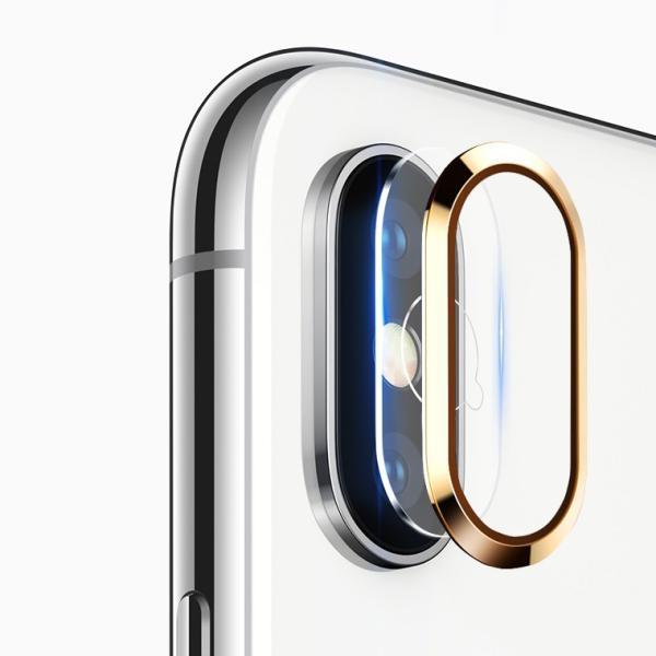 レンズ保護リング+カメラ保護フィルム セット iPhone XS カメラ用ガラスフィルム iPhone XS Max カメラリング 全面 アイフォン テン 強化ガラス|livelylife|11