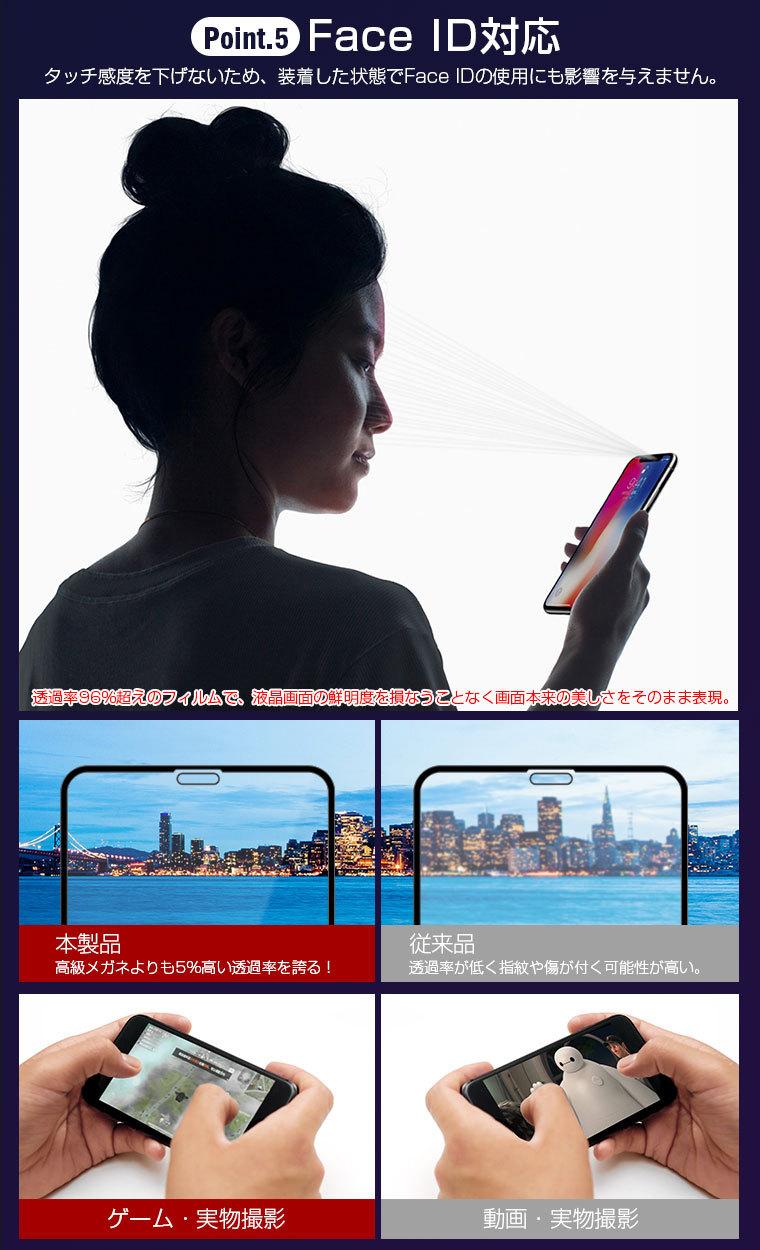iPhone X 強化ガラスフィルム