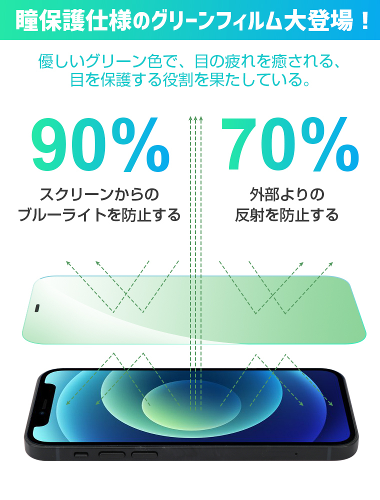 iPhone SE2 フィルム 9D