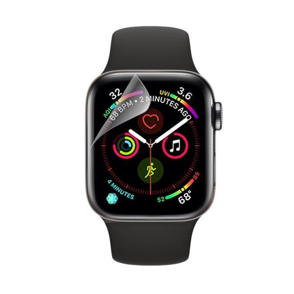 Apple Watch 4 フィルム 40mm Apple Watch Series 4 全面保護フィルム 44mm アップル ウォッチ 4 液晶フィルム Apple Watch4 液晶シール 透明  送料無料 livelylife 10