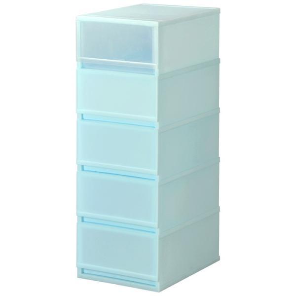 衣装ケース プラスチック 引き出し チェスト 5段 プラストミルキーMX3405 押入れ収納 衣替え 衣類収納 収納ボックス 収納ケース|livewell|07