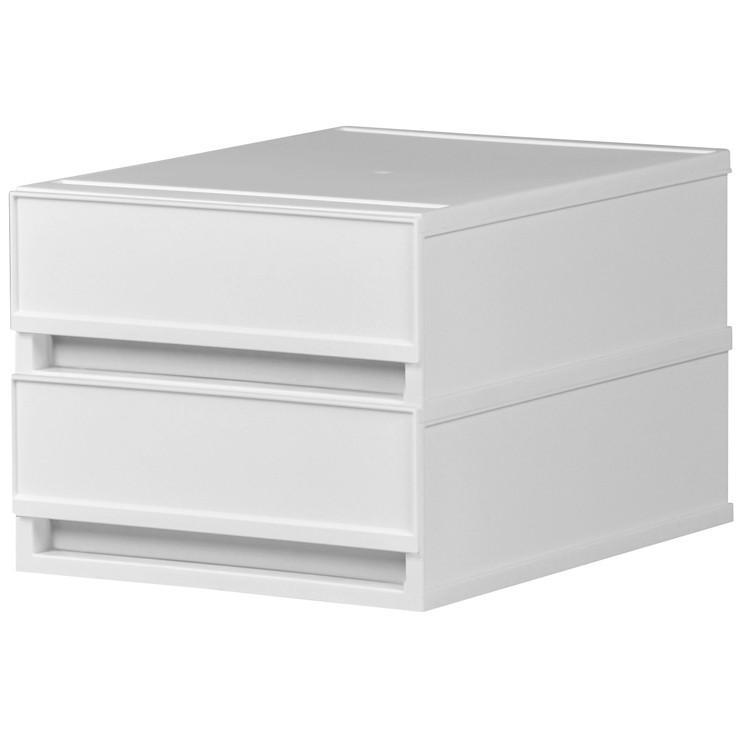 レターケース おしゃれ 引き出し プラスチック 収納ケース 2段 A4サイズ プラストベーシックFRA402|livewell|12