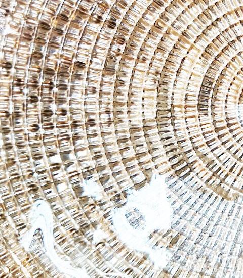 【IVV・イタリア製】ガラス皿Diamante/ディアマンテシャンパンゴールド22cmプレート(6246_8)4
