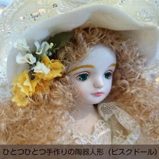 【若月まり子人形作品】フィルクローシェシリーズアンネット1:ひとつひとつ手作りの陶器人形(ビスクドール)