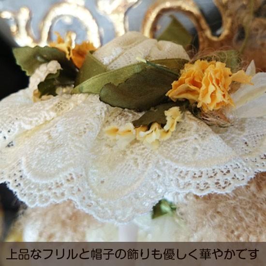 【若月まり子人形作品】フィルクローシェシリーズアンネット3:上品なフリルと帽子の飾りも優しく華やかです