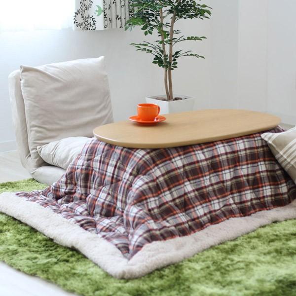 冬の幸せアイテム、こたつ。夏はそのままおしゃれなローテーブルとして一年中使えます。
