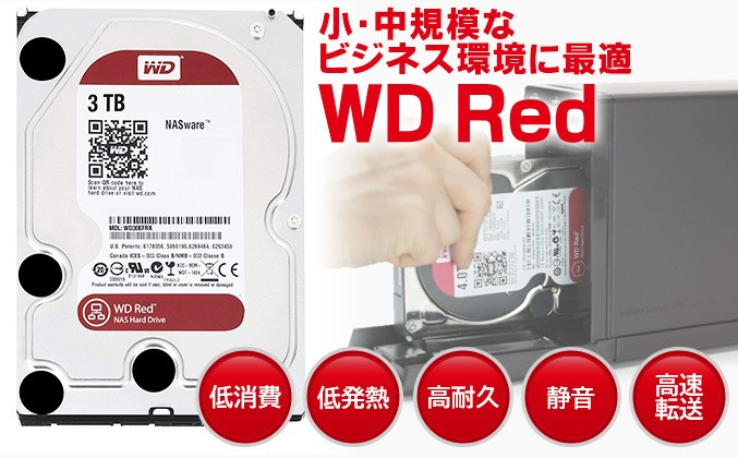 NAS用に最適化したWD Red搭載