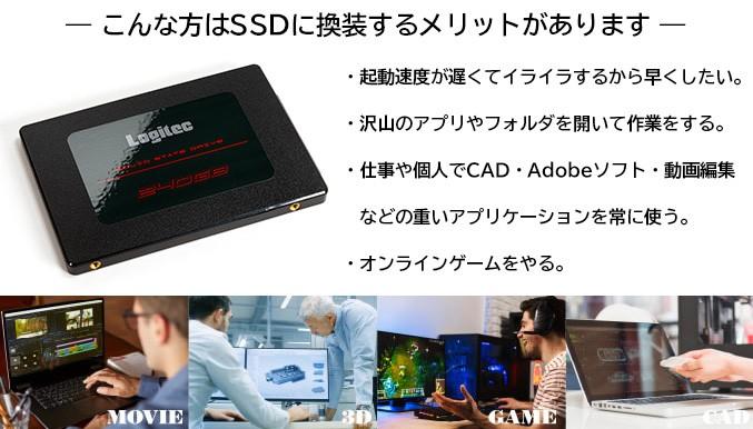 こんな方はSSDに換装するメリットがあります