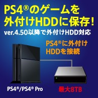 PS4対応外付けHDD