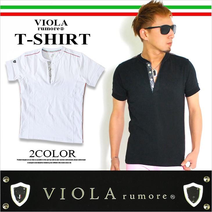 【viola】イタリアカラーヘンリーネックTシャツ