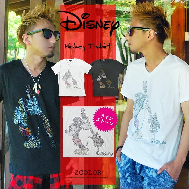 【DISNEY】ミッキーラインストーンTシャツ