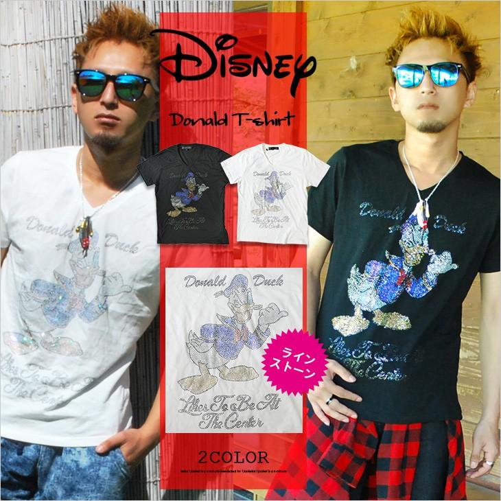 【DISNEY】ドナルドラインストーンTシャツ