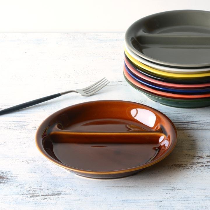 ランチプレート 丸 21cm 全9color  取り皿 おしゃれ お皿 皿 食器 プレート 陶器 美濃焼 可愛い 北欧 日本製 おうちごはん long-greenlabel 22
