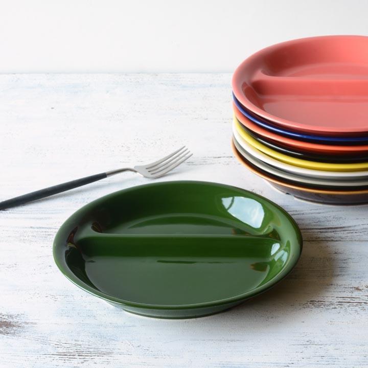 ランチプレート 丸 21cm 全9color  取り皿 おしゃれ お皿 皿 食器 プレート 陶器 美濃焼 可愛い 北欧 日本製 おうちごはん long-greenlabel 26