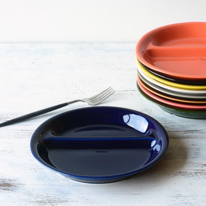 ランチプレート 丸 21cm 全9color  取り皿 おしゃれ お皿 皿 食器 プレート 陶器 美濃焼 可愛い 北欧 日本製 おうちごはん long-greenlabel 23