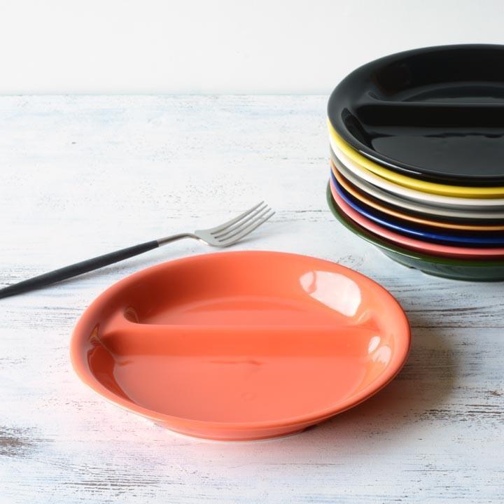 ランチプレート 丸 21cm 全9color  取り皿 おしゃれ お皿 皿 食器 プレート 陶器 美濃焼 可愛い 北欧 日本製 おうちごはん long-greenlabel 24
