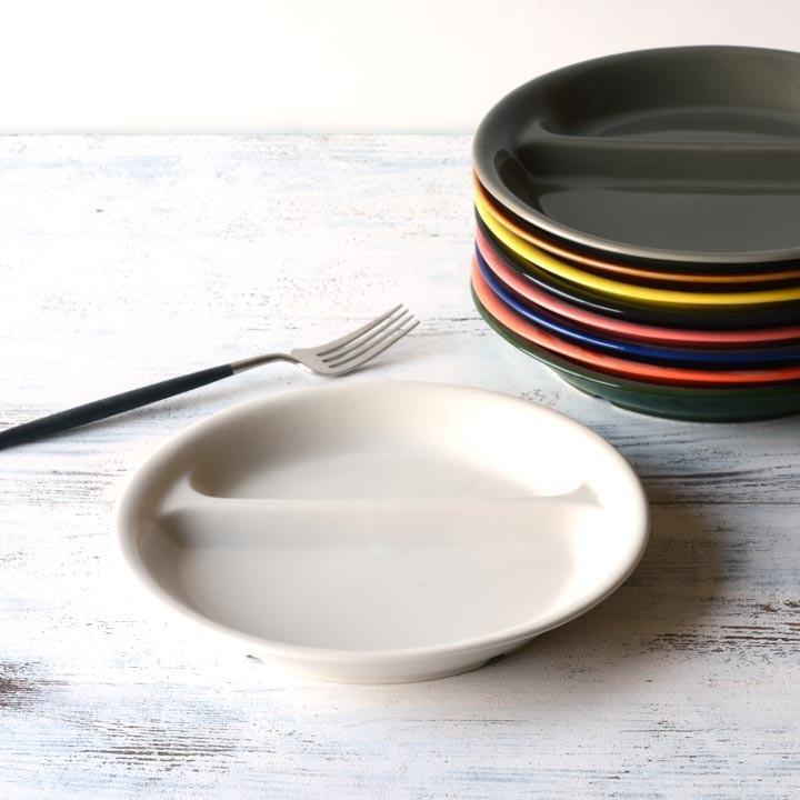 ランチプレート 丸 21cm 全9color  取り皿 おしゃれ お皿 皿 食器 プレート 陶器 美濃焼 可愛い 北欧 日本製 おうちごはん long-greenlabel 20