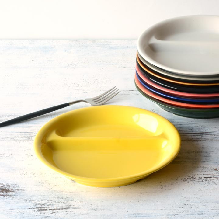 ランチプレート 丸 21cm 全9color  取り皿 おしゃれ お皿 皿 食器 プレート 陶器 美濃焼 可愛い 北欧 日本製 おうちごはん long-greenlabel 25