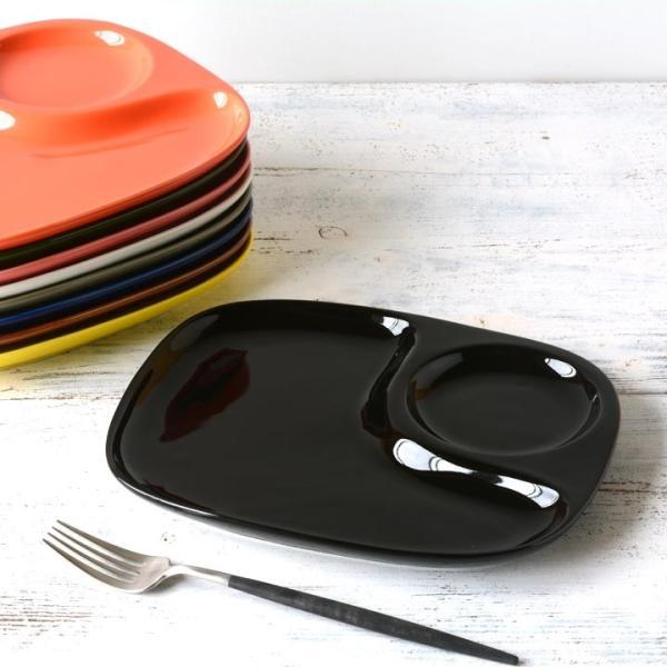 二つ仕切り ランチプレート 23cm 全9color  取り皿 おしゃれ お皿 皿 食器 プレート オシャレ 陶器 美濃焼き 可愛い 北欧 日本製|long-greenlabel|21