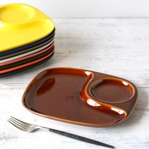 二つ仕切り ランチプレート 23cm 全9color  取り皿 おしゃれ お皿 皿 食器 プレート オシャレ 陶器 美濃焼き 可愛い 北欧 日本製|long-greenlabel|22