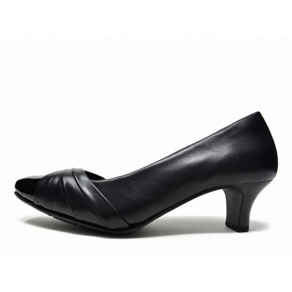 e3168fceb4b8 靴の前滑りを抑制する独自設計 アシックス商事 美脚 走れるパンプス 痛く ...