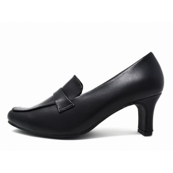 走れるパンプス 痛くない リクルートパンプス 黒 ローヒール 靴 ストラップ 太ヒール 大きいサイズ 小さいサイズ 事務 2018 冬 仕事|longpshoe|18