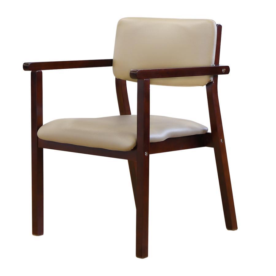 ダイニングチェア 木製 完成品 スタッキング 椅子 肘掛 肘付き レザー PVC 介護 施設 病院 北欧 おしゃれ ダイニング デザイン レトロ ウッドチェア FLEUR FLR-1|lookit|28