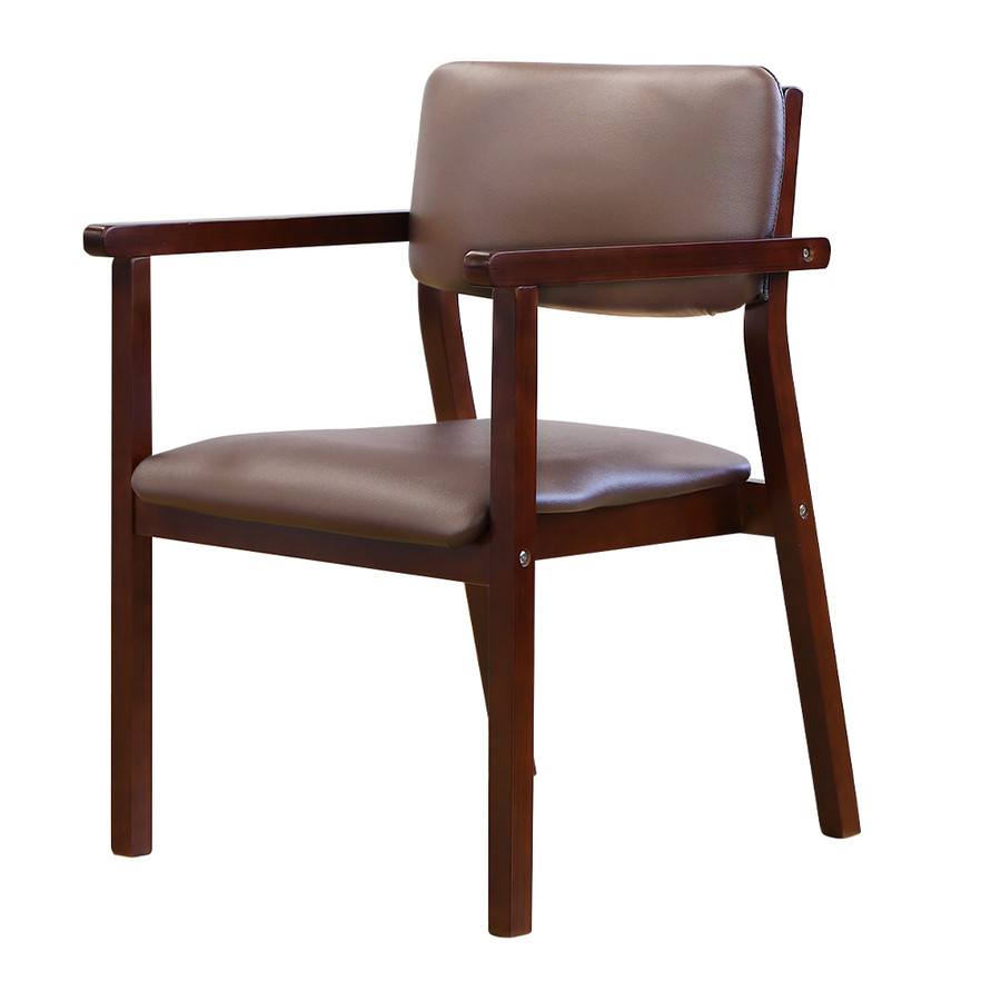 ダイニングチェア 木製 完成品 スタッキング 椅子 肘掛 肘付き レザー PVC 介護 施設 病院 北欧 おしゃれ ダイニング デザイン レトロ ウッドチェア FLEUR FLR-1|lookit|29