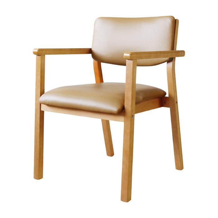ダイニングチェア 木製 完成品 スタッキング 椅子 肘掛 肘付き レザー PVC 介護 施設 病院 北欧 おしゃれ ダイニング デザイン レトロ ウッドチェア FLEUR FLR-1|lookit|22