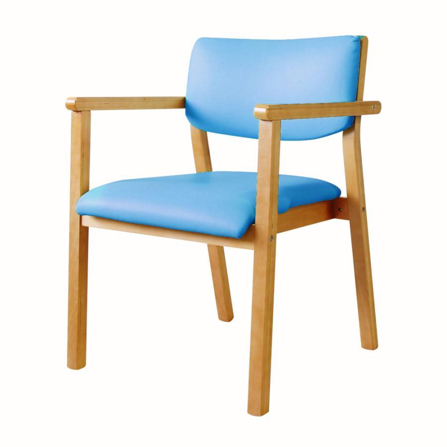 ダイニングチェア 木製 完成品 スタッキング 椅子 肘掛 肘付き レザー PVC 介護 施設 病院 北欧 おしゃれ ダイニング デザイン レトロ ウッドチェア FLEUR FLR-1|lookit|24
