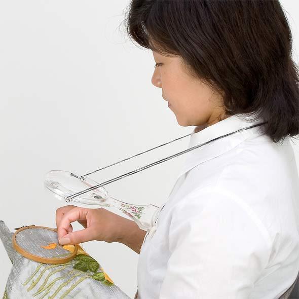 手芸用ルーペ 両手が自由に使える拡大鏡 6500-P