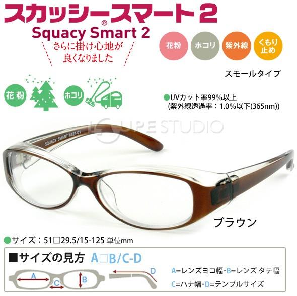 花粉症 メガネ スカッシー スマート2 スモールタイプ