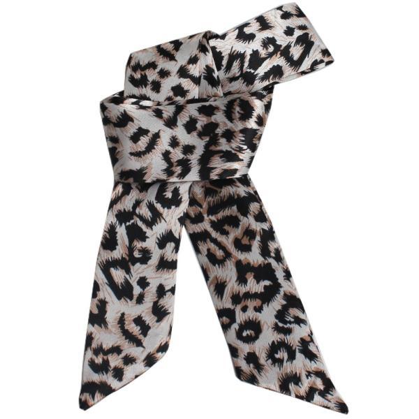 スカーフ レディース 18タイプ ツイリースカーフ サテン素材 チェーン柄 マルチ 細スカーフ 3枚以上で送料無料 ハンダナスカーフ ヘアクセサリー リボン lovegal 31