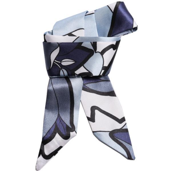 スカーフ レディース 18タイプ ツイリースカーフ サテン素材 チェーン柄 マルチ 細スカーフ 3枚以上で送料無料 ハンダナスカーフ ヘアクセサリー リボン lovegal 23