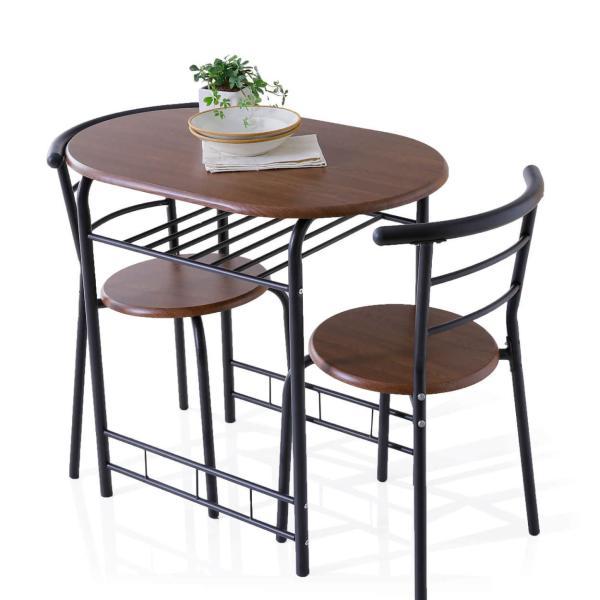 ダイニングテーブルセット 3点 2人用 チェア 食卓 おしゃれ カフェ スタイル ロウヤ LOWYA|low-ya|21
