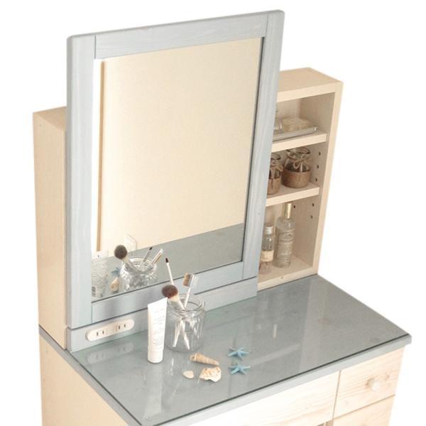 ドレッサー おしゃれ 完成品 天然木 コンパクト 白 収納 椅子付き ドレッサーテーブル 人気 送料無料|ls-zero|25