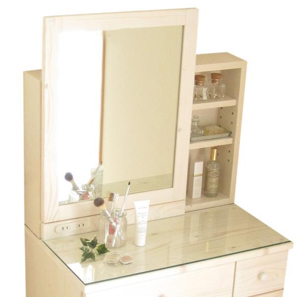 ドレッサー おしゃれ 完成品 天然木 コンパクト 白 収納 椅子付き ドレッサーテーブル 人気 送料無料|ls-zero|21