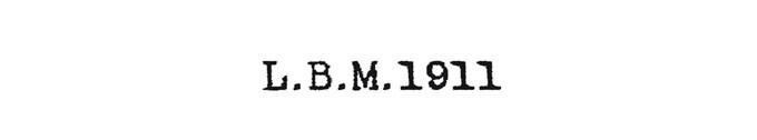 #L.B.M.1911